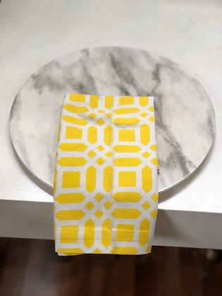 Servilleta Amarilla con Blanco