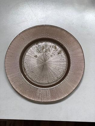 Baja Plato Rose Gold Vidrio