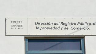 El Registro Público de la Propiedad da formalidad a los actos de derechos sobre inmuebles