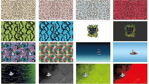 STOFFKINO Masken -Panel Webware | Bio- Baumwolle