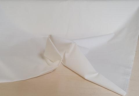 Bio- Baumwolle - Uni weiß