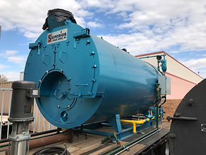 Superior Boiler 125HP Trailer Mounted Boiler for rent