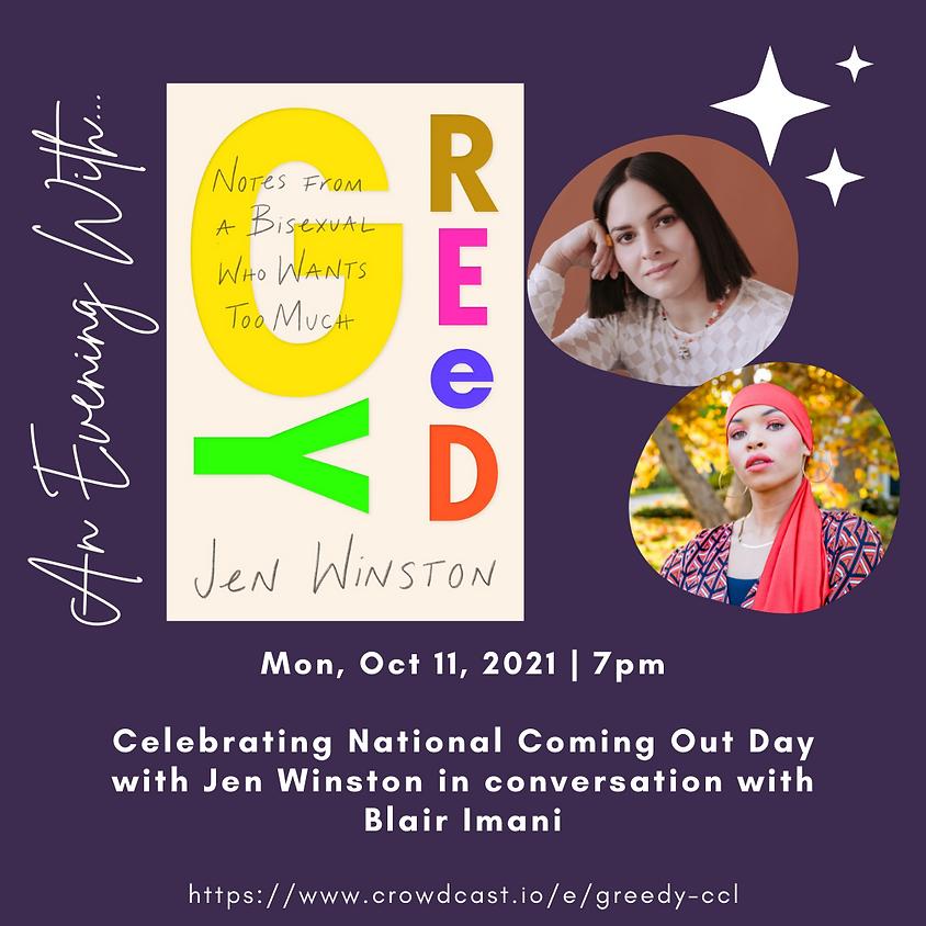 Author Talk: Greedy | Jen Winston in conversation with Blair Imani