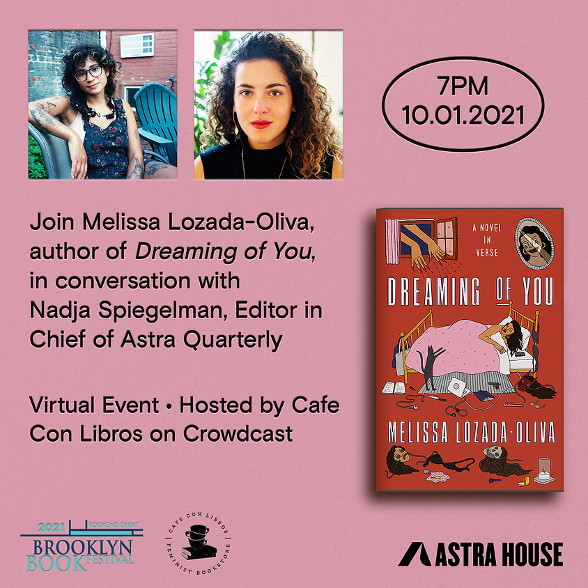 Author Talk: Dreaming of You | Melissa Lozada-Oliva with Nadja Spiegelman