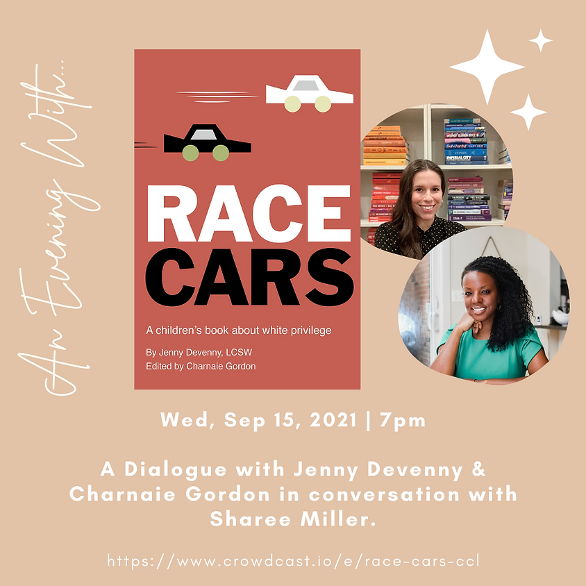Author Talk: Race Cars   Jenny Devenny & Charnaie Gordon in conversation with Sharee Miller