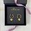 Thumbnail: Gold Heart Hoop Earrings