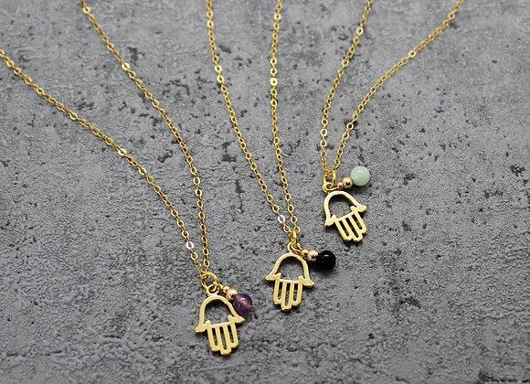 Hamsa Charm Necklace