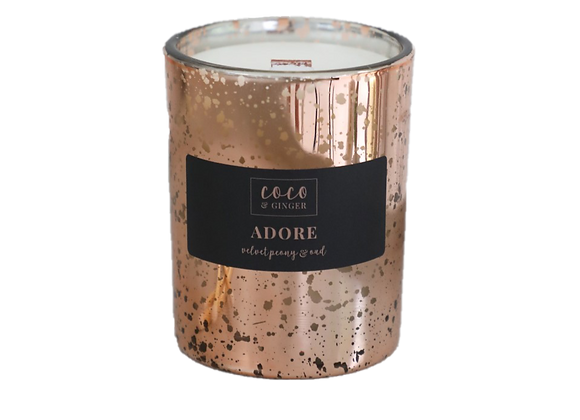 Black Peony & Oud Glass Candle