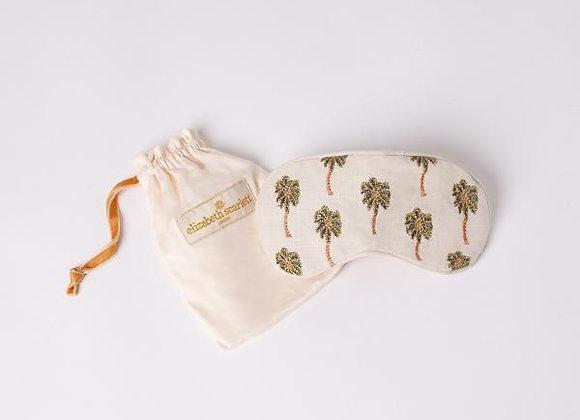 Cotton & Velvet Eye Mask (Cream Palms)