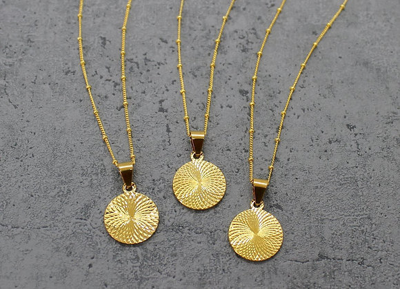 Gold Filled Circle Necklace