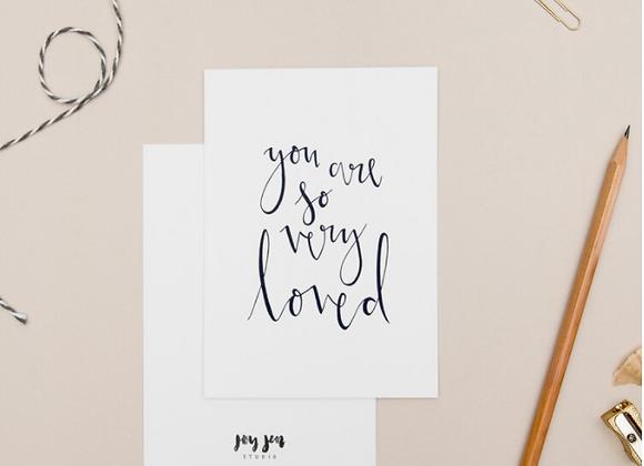 So Loved Notecard