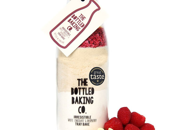 White Chocolate & Raspberry Tray Bake