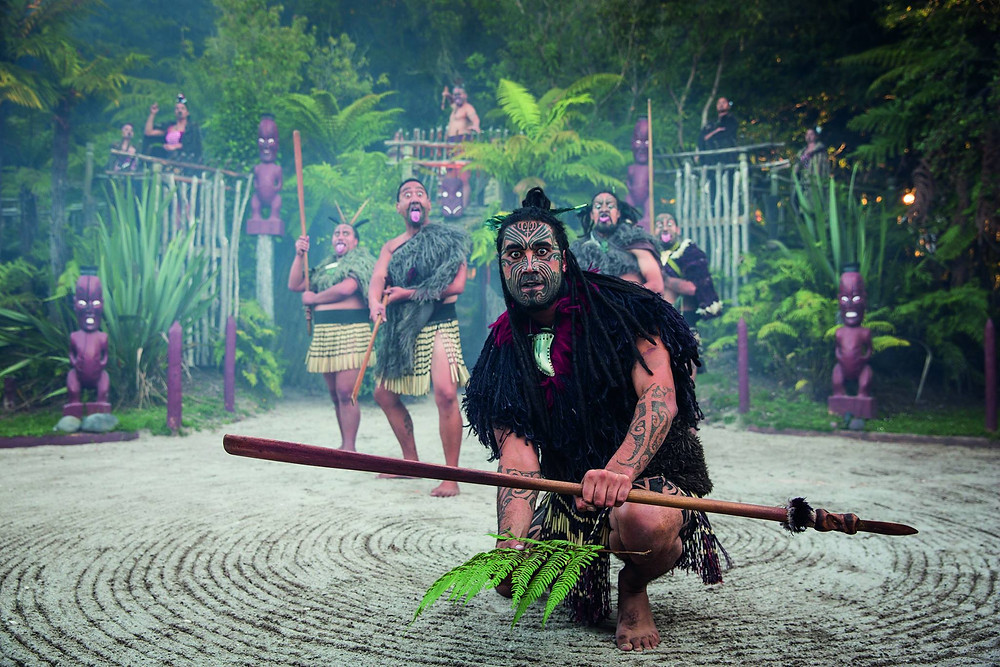 Maori culture features at Tamaki Maori Village