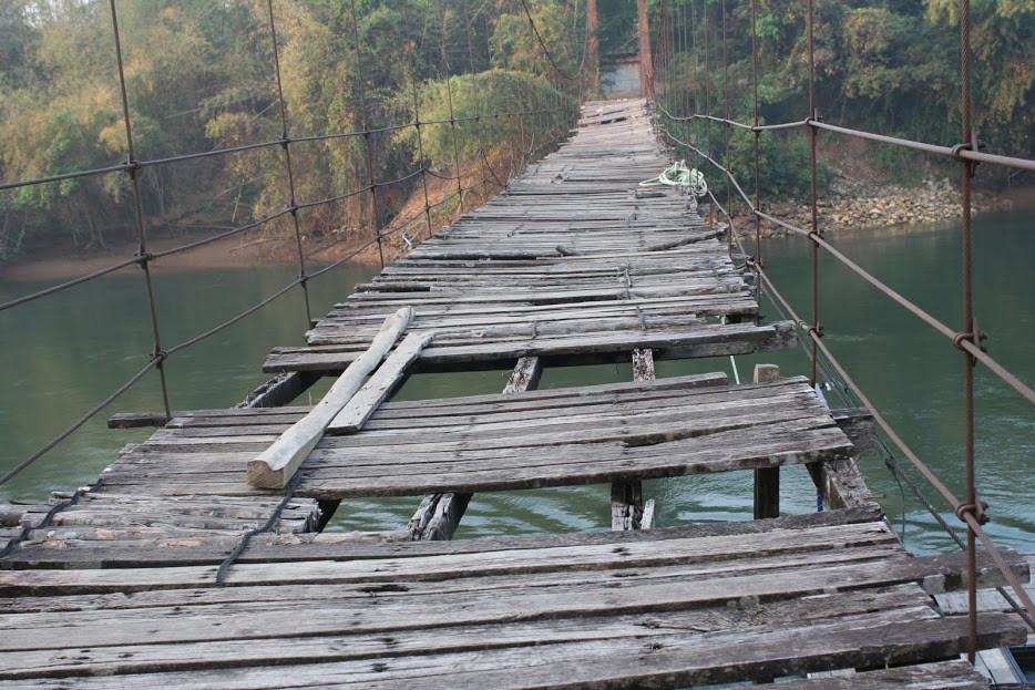 A bridge with severe technical debt in Thailand River Khwae Yai