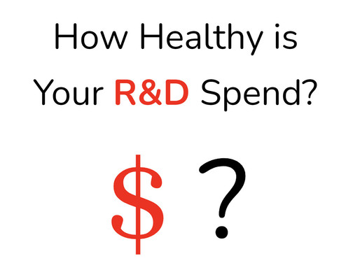 Is Your R&D Spend Healthy?