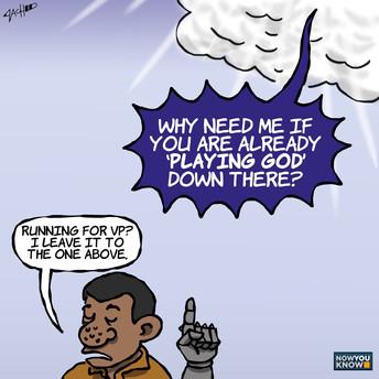 [Editorial Cartoon] PLAYING GODly