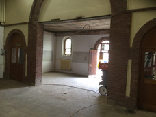 Old baptistry removed