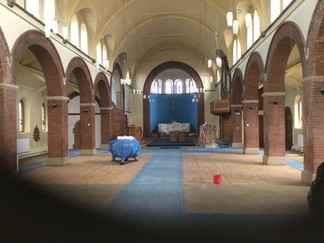 Church emptied for refurbishment