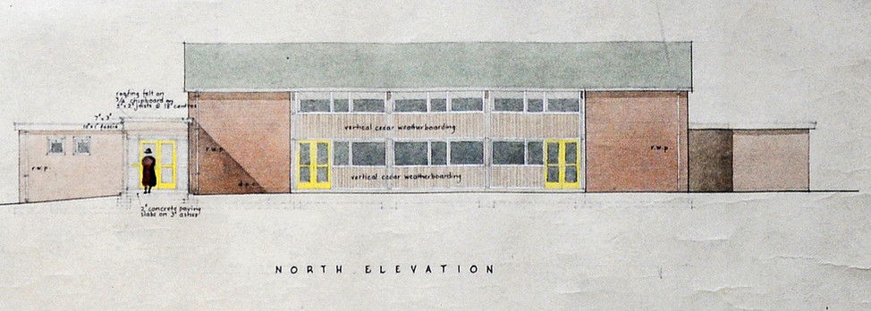 1957 Church Hall Northern Elevation -