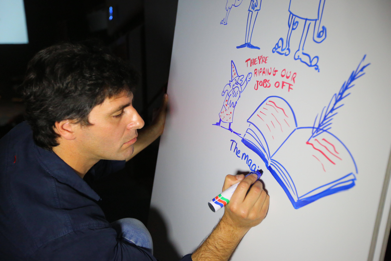 מאייר בכנס והרצאה TED