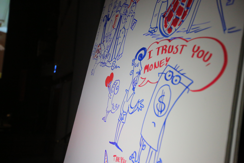 איור בכנס והרצאה TED