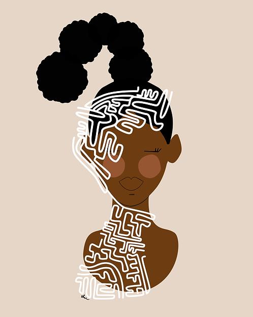 Maze 3 - 8 x 10 Art Print