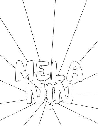MELANIN - Coloring Page Printable