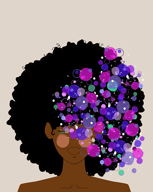 Indigo Bubbles - 8 x 10 Art Print