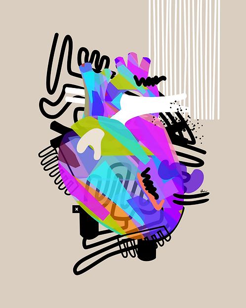 HUED HEART - 8 x 10 Art Print