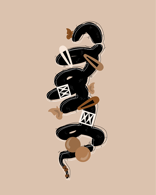 COILS AND  CLIPS - 8 x 10 Art Print