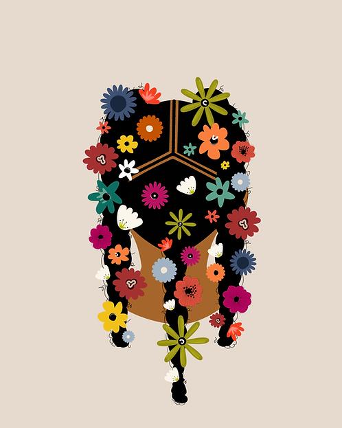 FLOWER CHILD - 8 x 10 Art Print