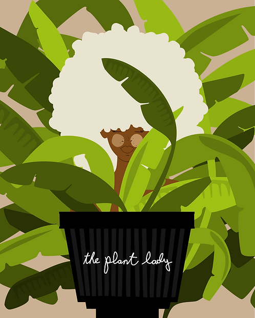 BANANA PLANT - 8 x 10 Art Print