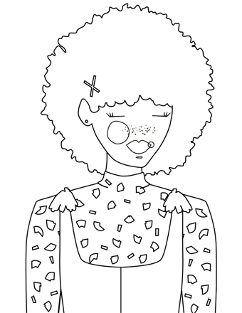 JADE - Coloring Page Printable