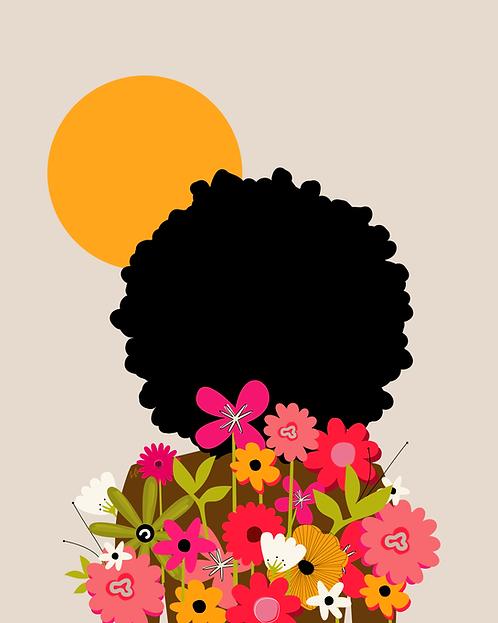 SUN BLOOMS - 8 x 10 Art Print