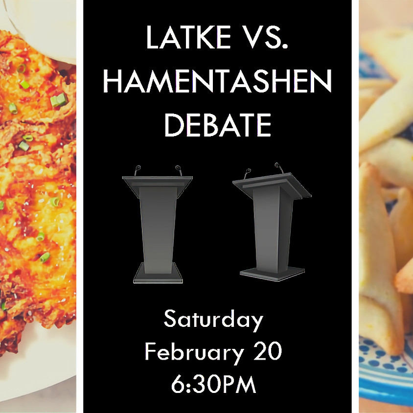 6:30PM Mock Treyf @ Home Banquet & Latke-Hamentachen Debate