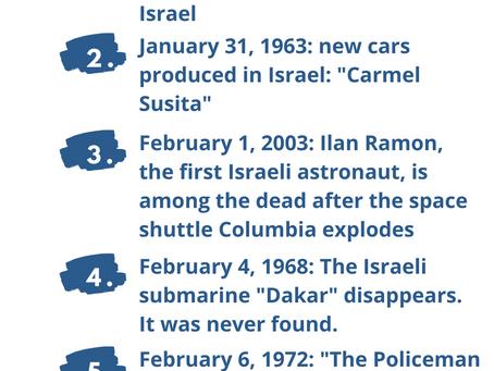Next Week in Israel's History January 31-February 6