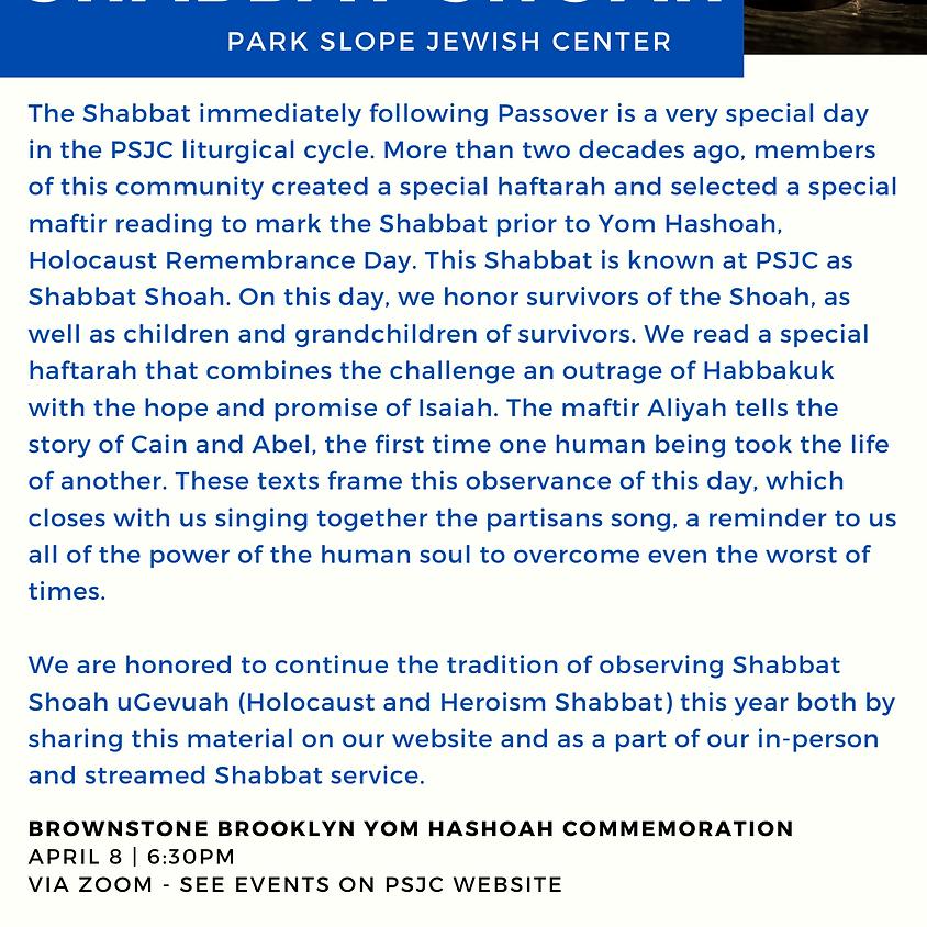 10:00AM: Shabbat Shacharit