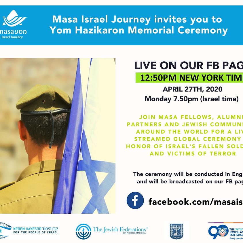 12:50PM: Yom Hazikaron Memorial Ceremony