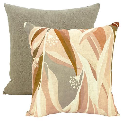 Autumn Gums Linen Cushion
