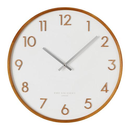 Clock Scarlett White 35cm