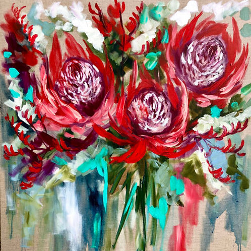Coaster Red Protea