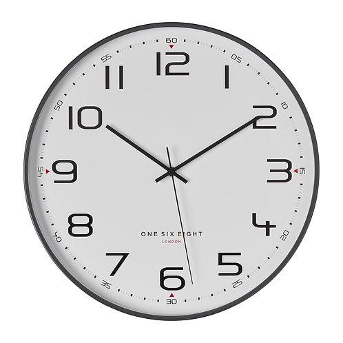 Clock Carmen Cool Grey Silent 30cm