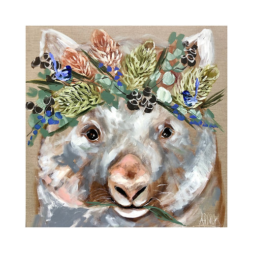 Coaster Forget me not Wombat