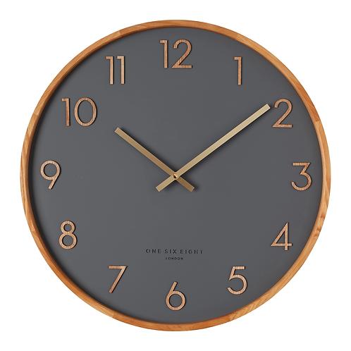 Clock Scarlett Charcoal 50cm