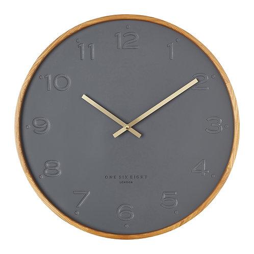 Clock Freya Charcoal 35cm
