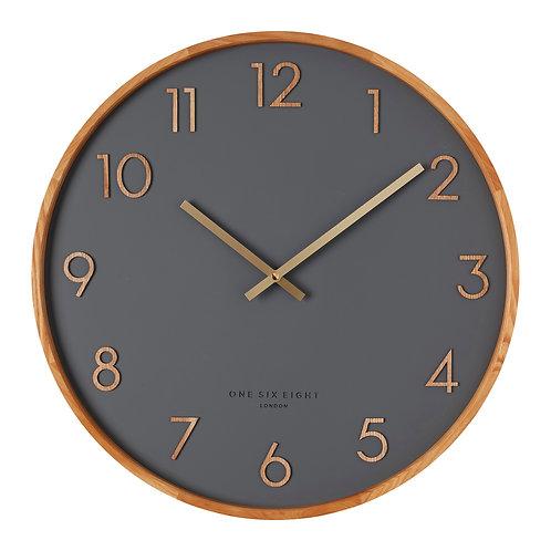 Clock Scarlett Charcoal 35cm