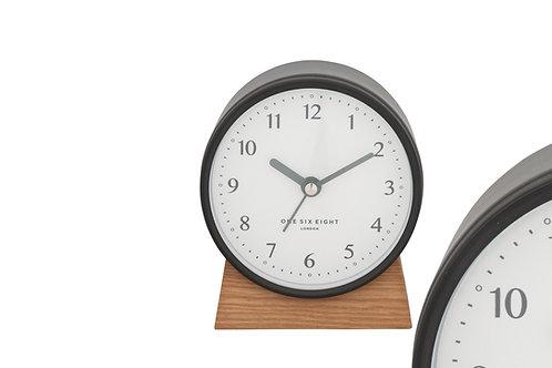 Clock Nina Silent Alarm Clock Charcoal Grey