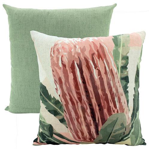 Soft Banksia Linen Cushion