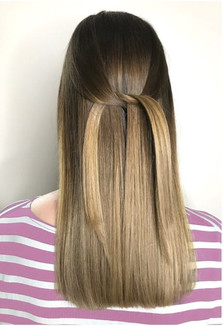 Beige ombre hair