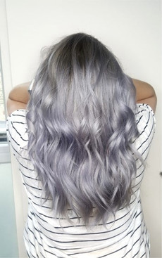 Long purple wavy hair
